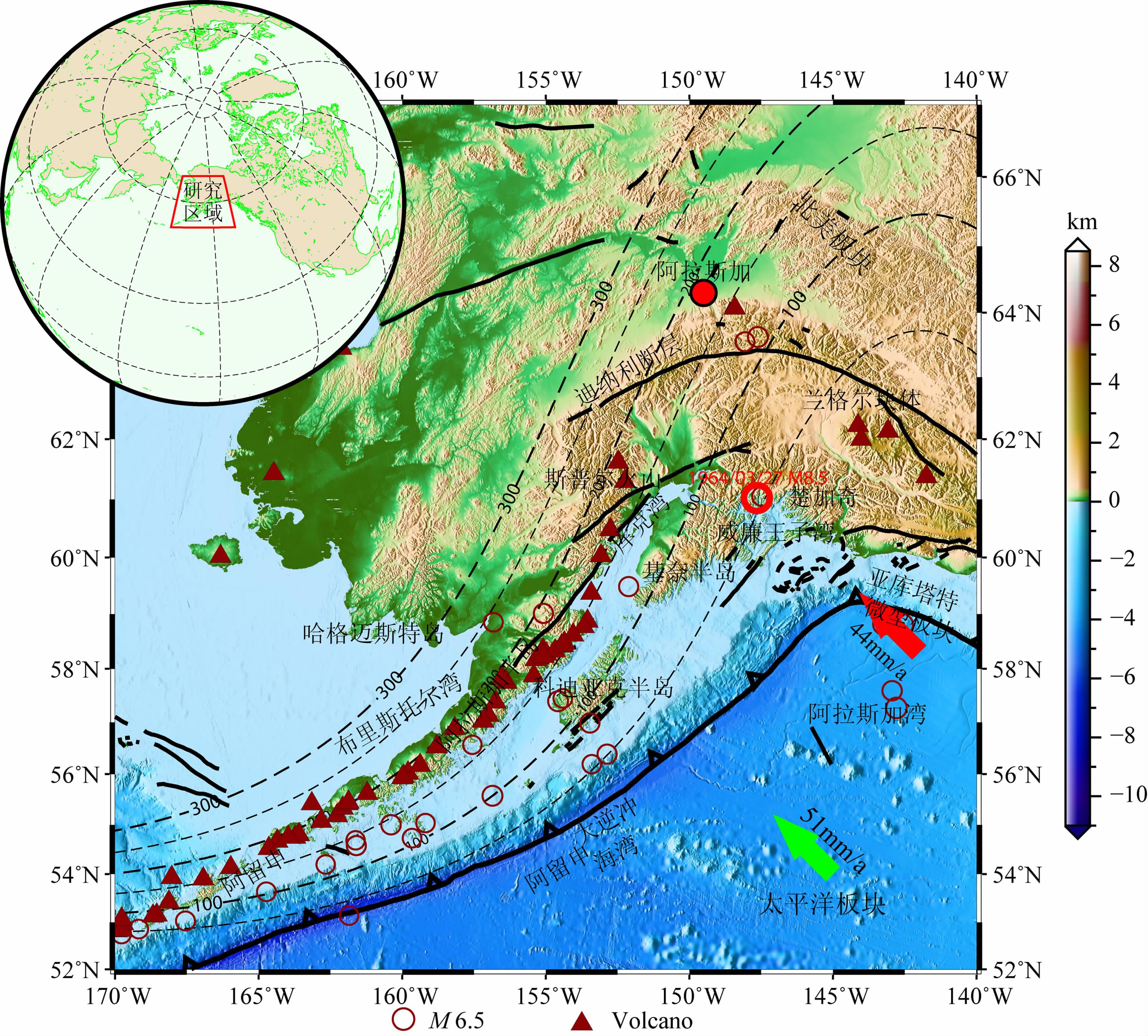 南阿拉斯加地壳及上地幔结构成像研究